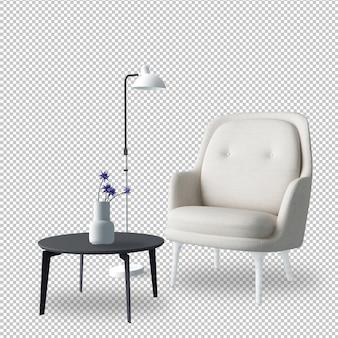 Wewnętrzny meble ustawiający w 3d renderingu