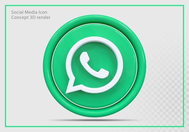 Whatsap icon 3d render nowoczesny