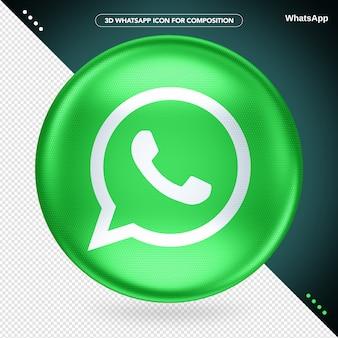 Whatsapp logo green ellipse 3d