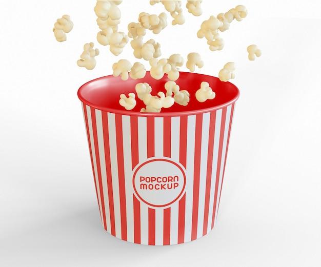 Wiadro z makietą popcorn flying