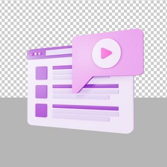 Wideo na desce rozdzielczej ilustracja 3d biznes