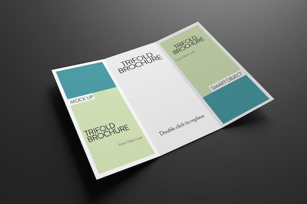 Widok makiety broszury potrójnej