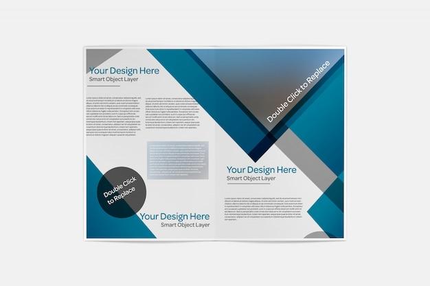 Widok makiety składanej broszury