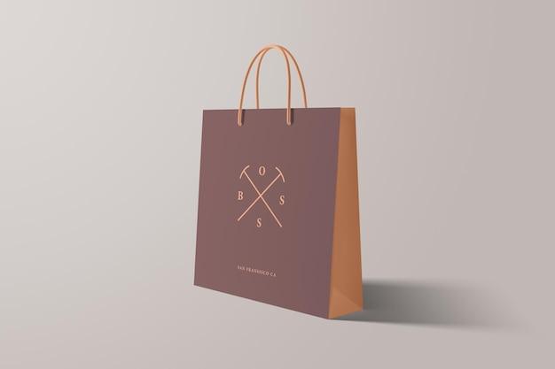 Widok perspektywiczny makiety torby na zakupy