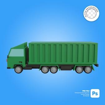 Widok z boku ciężarówki cargo obiekt 3d