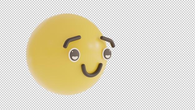 Widok z boku dumny emoji png