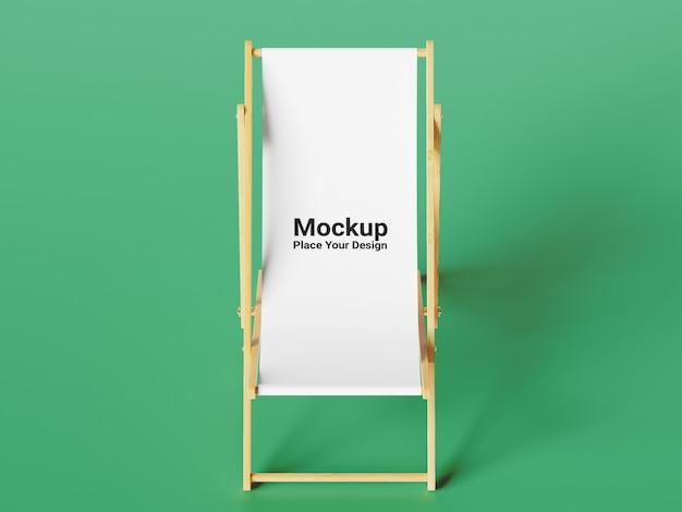 Widok z boku krzesło makieta na zielonym tle