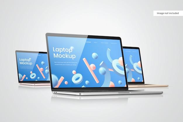 Widok z boku makiety ekranu laptopa