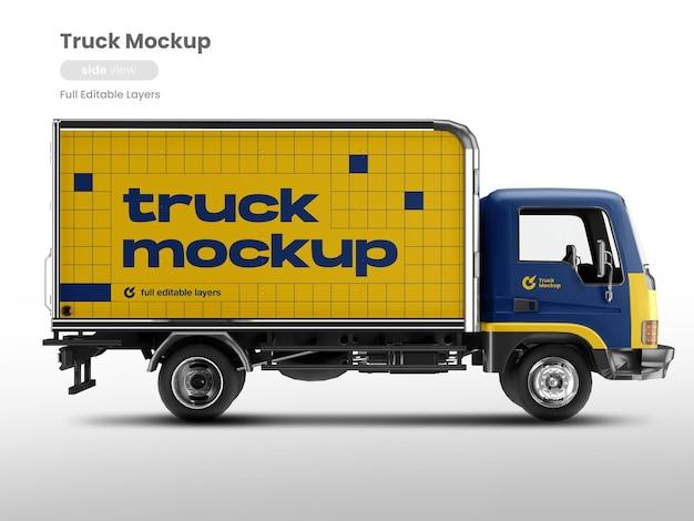 Widok z boku makiety samochodu ciężarowego