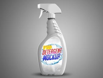 Widok z boku na biały spray czyszczący