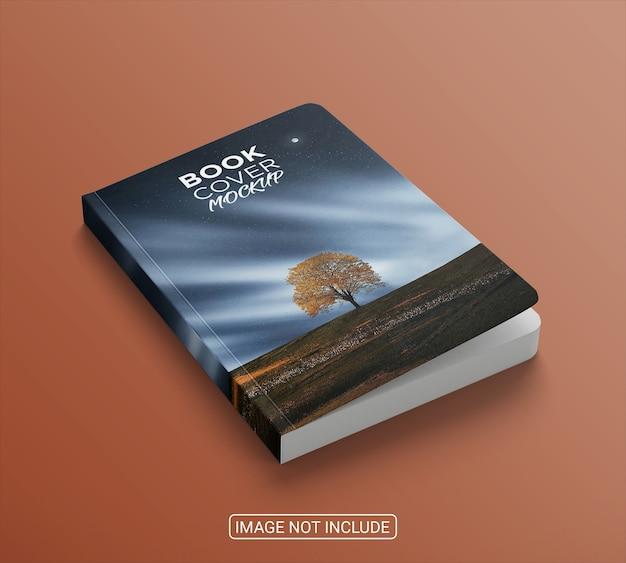 Widok z boku na książki minimalistyczne makieta na białym tle