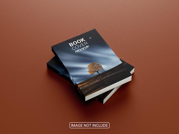 Widok z boku realistyczna makieta książki w twardej oprawie