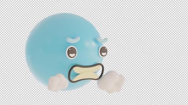 Widok z boku zimne emoji png