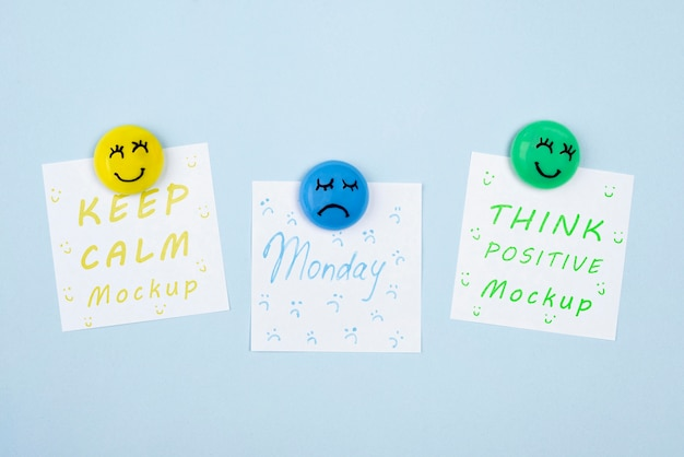 Widok z góry koncepcja niebieski poniedziałek