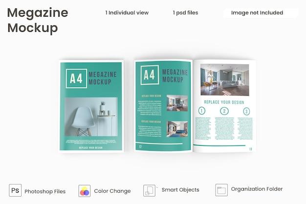 Widok z góry makiet broszur i katalogów premium psd