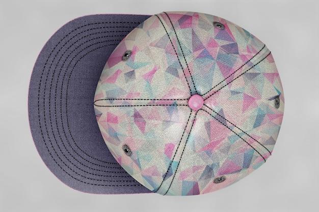 Widok z góry makieta czapeczki baseballowej