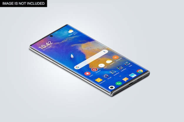 Widok z góry makieta ekranu smartfona