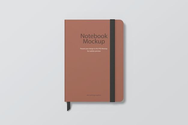 Widok z góry makieta prostego notebooka