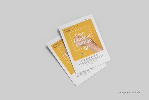 Widok z góry makiety broszury ulotki