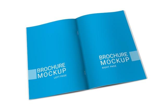 Widok z góry makiety broszury