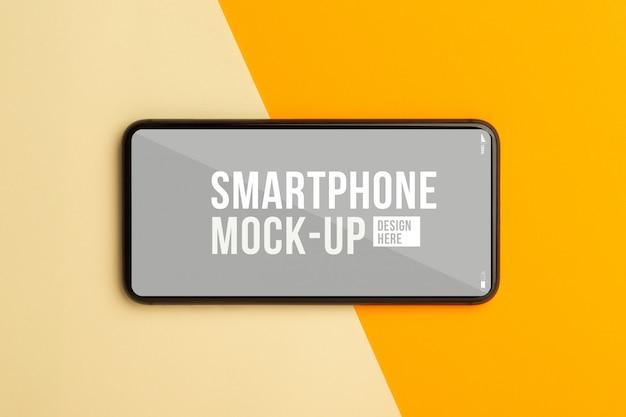 Widok z góry makiety interfejsu smartfona