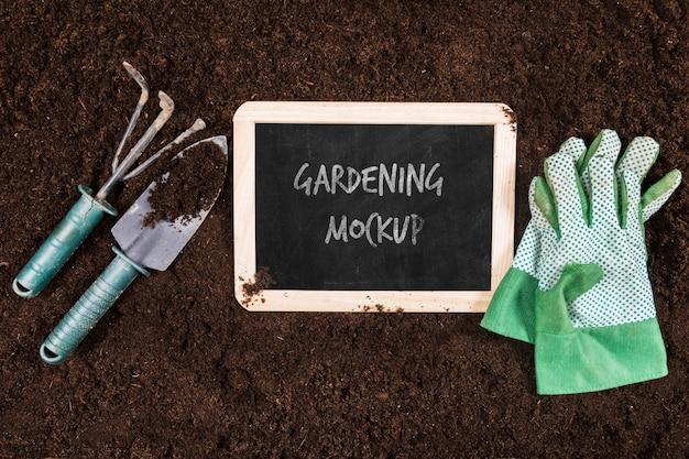 Widok z góry makiety koncepcji ogrodnictwa