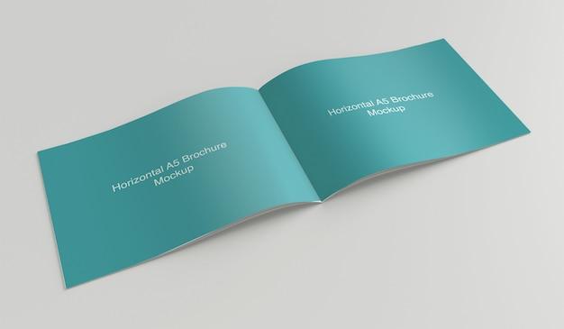 Widok z góry makiety otwartej składanej broszury