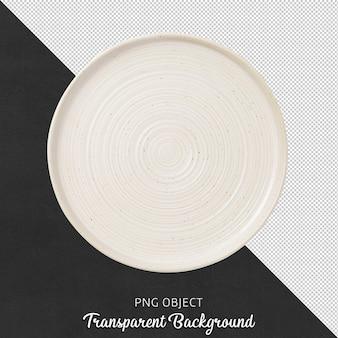 Widok z góry na białym okrągłym talerzu