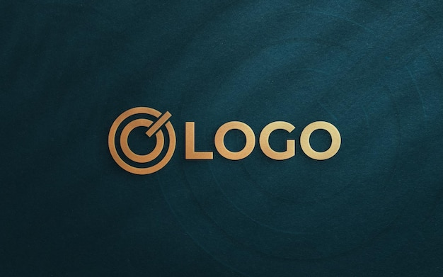 Widok z góry na elegancką makietę logo