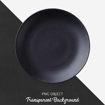 Widok z góry na matową czarną okrągłą makietę