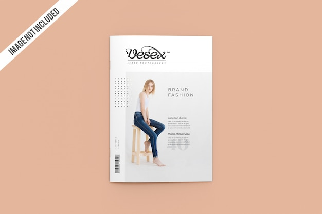 Widok z góry okładka czasopisma makieta