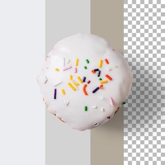 Widok z góry pyszne domowe ciastko na białym tle