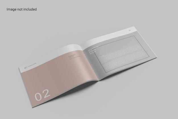 Widok z lewej strony broszura krajobrazowa mockup design