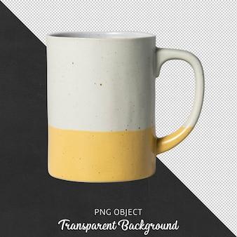 Widok z przodu kubek do kawy na białym tle lub kubek do kawy