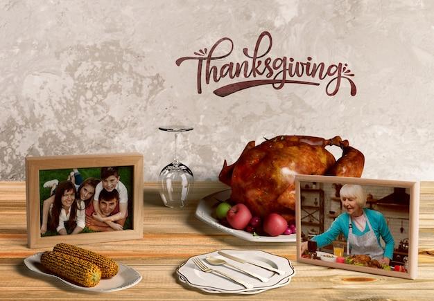 Widok z przodu makiety koncepcji święto dziękczynienia