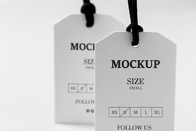 Widok z przodu makiety rozmiaru odzieży