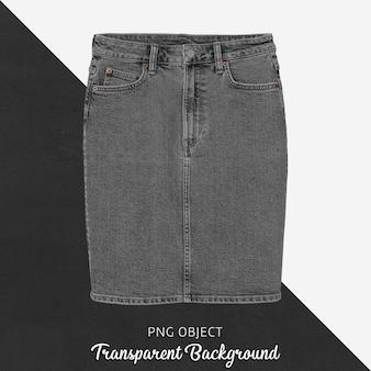 Widok z przodu makiety szarej spódnicy dżinsowej