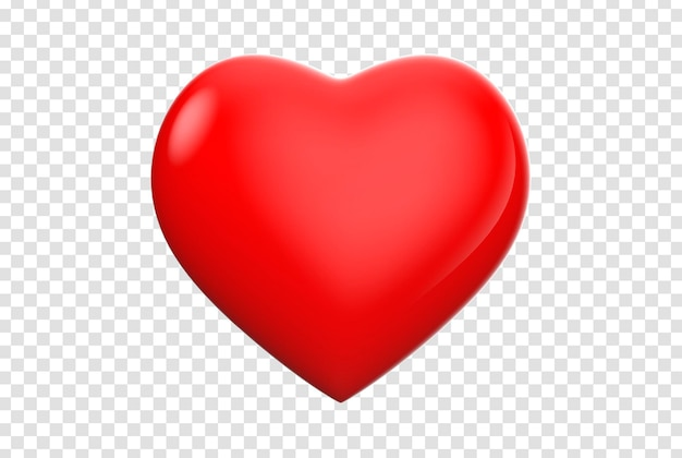 Widok z przodu na białym tle ikona serca 3d