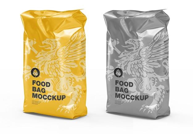 Widok z przodu plastikowej torby na żywność