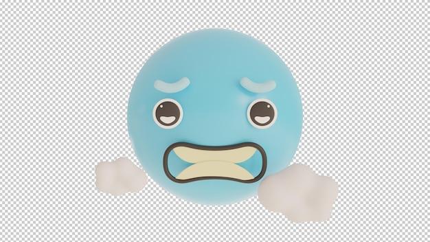 Widok z przodu zimne emoji png