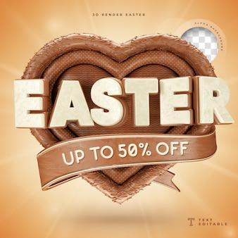 Wielkanocne realistyczne renderowanie 3d do 50 procent zniżki