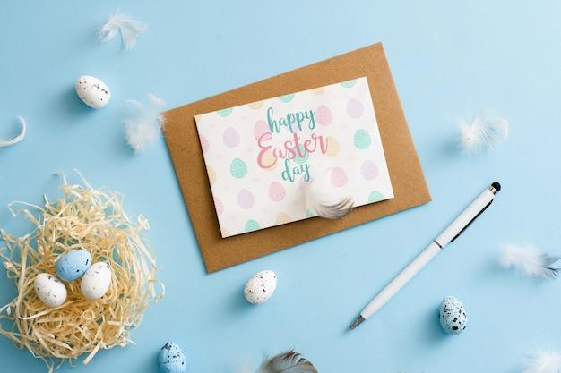 Wielkanocny kartka z pozdrowieniami z kopertą
