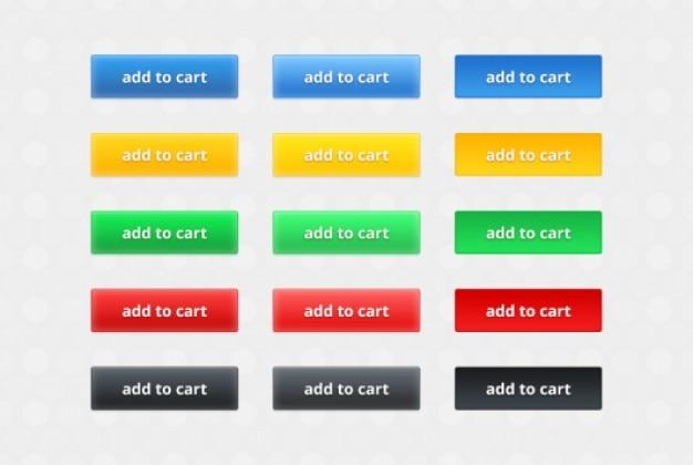 Wielu kolorowych przycisków elementy wektorowe
