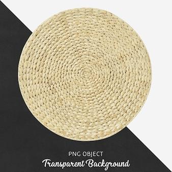 Wiklinowy okrągły serwis na przezroczystym tle
