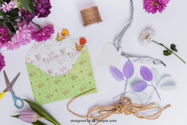 Wiosna makieta z koperty