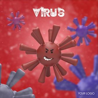 Wirus 3d