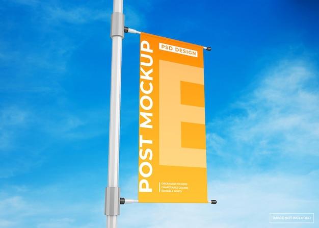 Wisząca lampa baner reklamowy plakat makieta