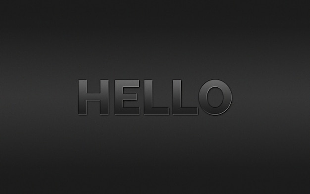 Witaj styl efektu tekstu