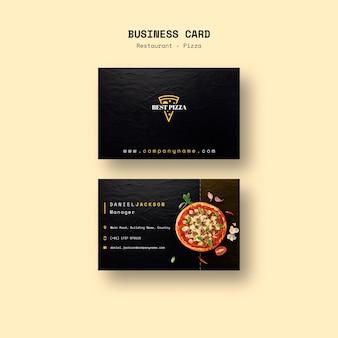 Wizytówka do restauracji z pizzą