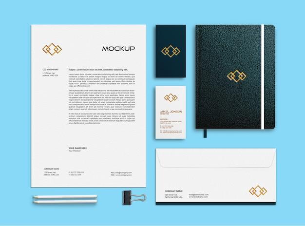 Wizytówka, papier firmowy i makieta papeterii